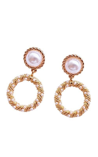 SE DIPITY Vintage Gold Plated Drop Dangle Earrings