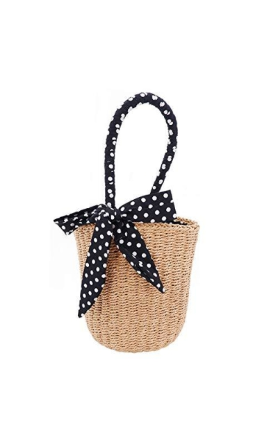 TopHonor Straw Bucket Bag