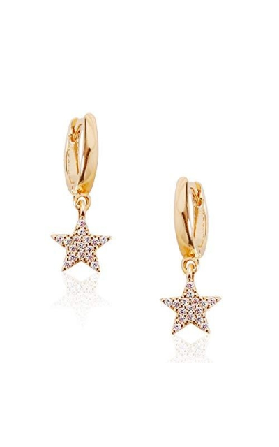 Humble Chic Star Huggie Hoop Earring