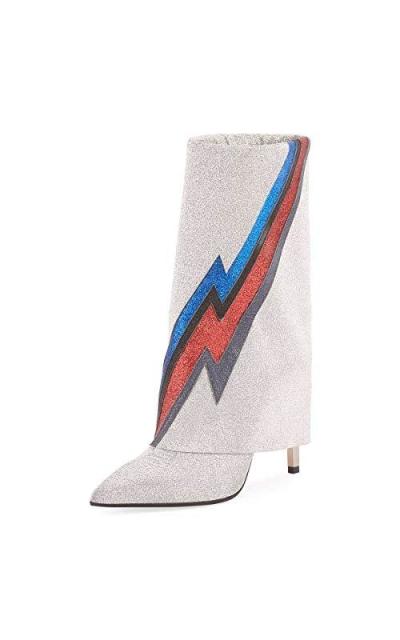 FSJ Knee High Glitter Boots