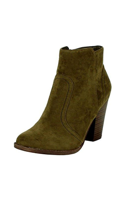 Breckelles Faux Suede Ankle Booties