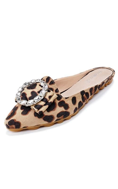 Cattle Shop Rhinestone Mules Loafers