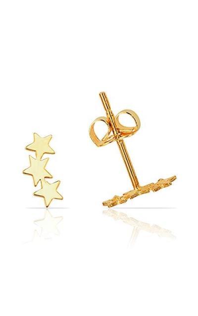 Three Star Stud Earring