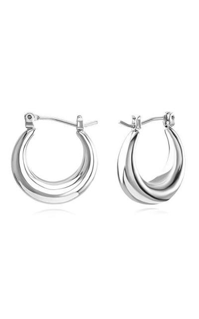 FAMARINE Chunky Hoop Earrings