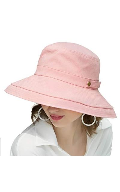 SOMALER Cotton Wide Brim Bucket Hat