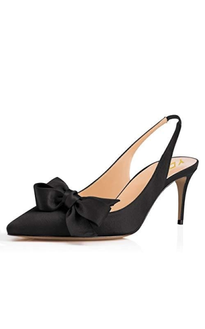 YDN Pointed Toe Slingback Pumps