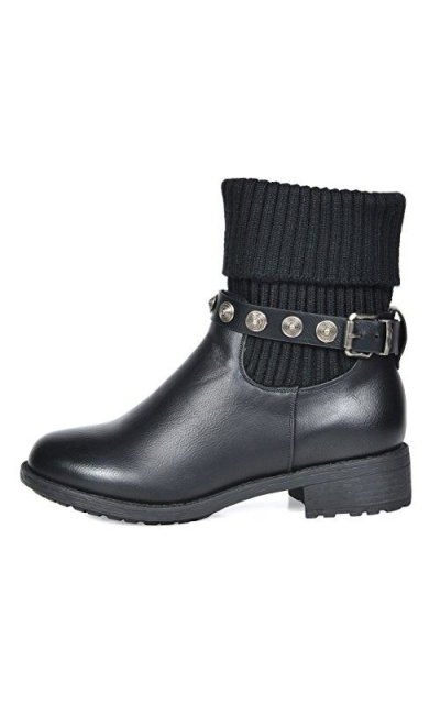 DREAM PAIRS Mid Calf Military Combat Boots