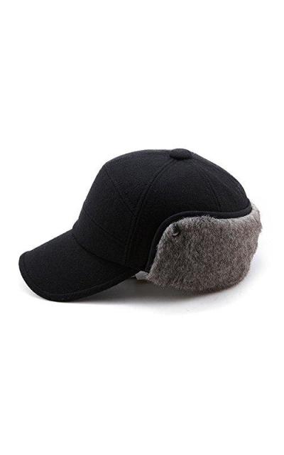 Wool Baseball Cap Earflap