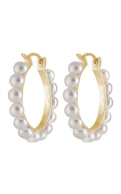 Handpicked AAA+ Yellow-gold-plated 925 Sterling Silver Hoop Earrings