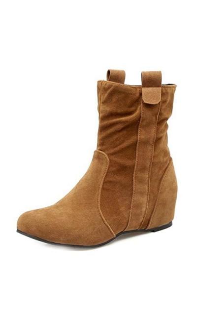 MIOKE Hidden Wedge Heel Pull On Booties