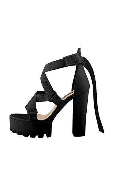 Onlymaker Platform Block Heel Sandals