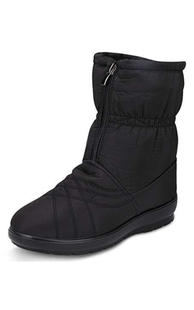 labato  Waterproof Ankle Snow Boots with Zipper