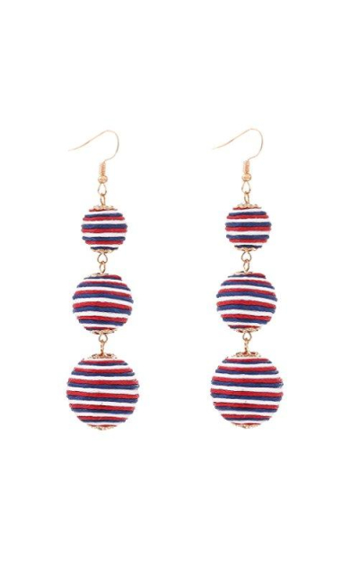 VK Accessories Thread Ball Soiree Drop Earrings