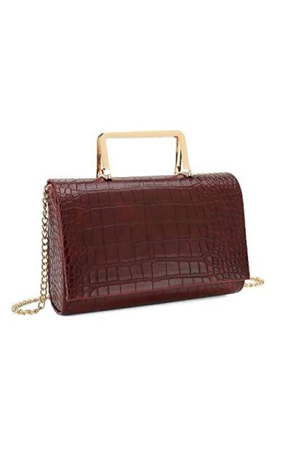 Charming Tailor Small Crocodile Print Clutch Bag