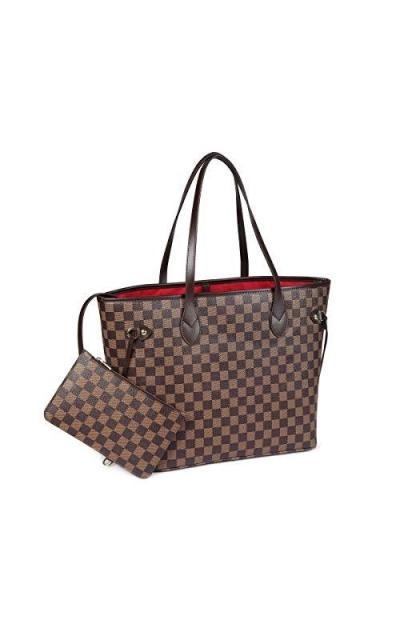 Daisy Rose Checkered Tote Shoulder Bag