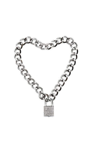 Lover Heart Padlock Necklace Choker