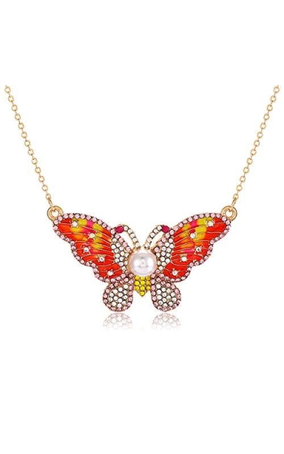 XOCARTIGE Butterfly Pendant Necklace