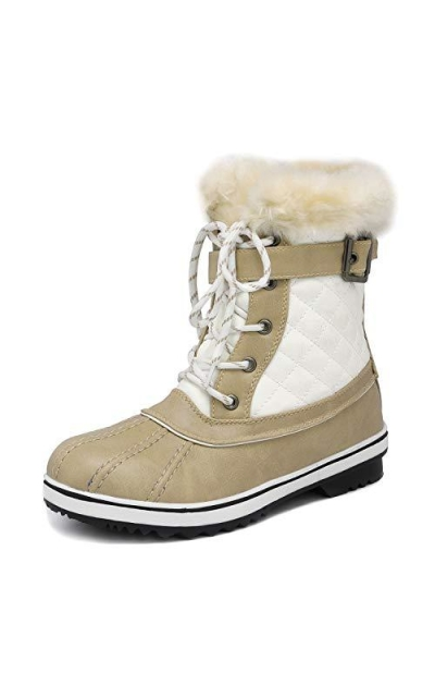 DREAM PAIRS River_3 Beige Snow Boots