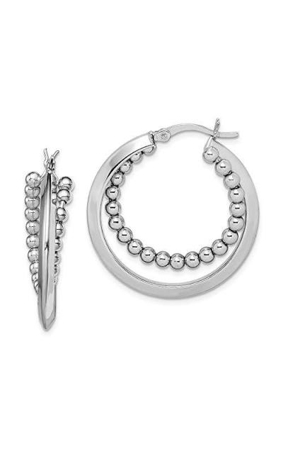FB Jewels Intertwining Beaded Hoop Earring