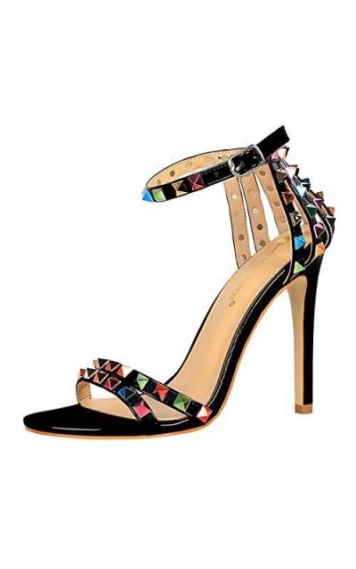 YIBLBOX Studded Sandals