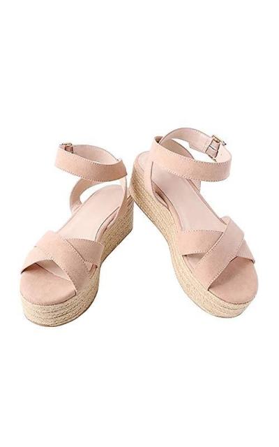 Syktkmx Strappy Flatform Espadrille Sandals