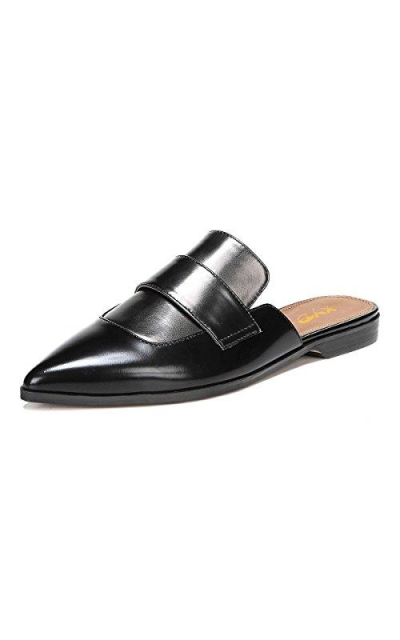 XYD Retro Backless Slip On Loafers