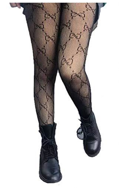 Sparkle Hollow Out Letter Tights