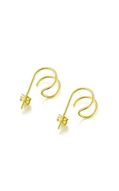 DOMILINA Hoop Hook Stud Earrings