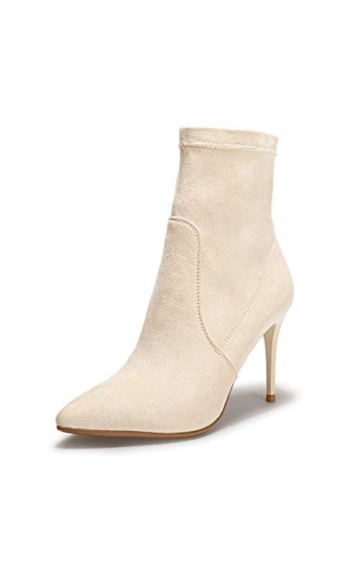 IDIFU Adela Pointed Toe Ankle Booties