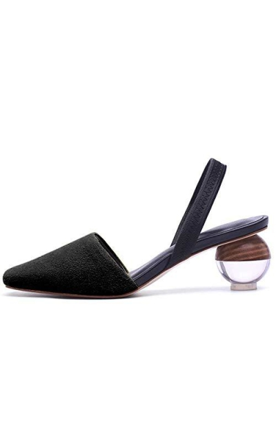 Fericzot Slingback Statement Heel Pumps