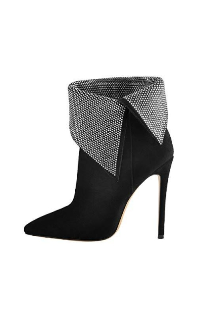 Onlymaker Ankle Pointed Toe Bootie Heel