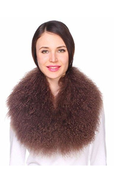 Ferand  Mongolian Fur Collar Scarf