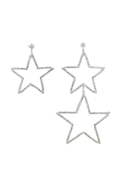 Lavenda W.J Asymmetric Star Drop Earrings