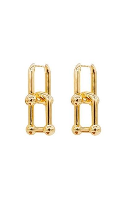 Small Chunky Gold Hoop Earrings