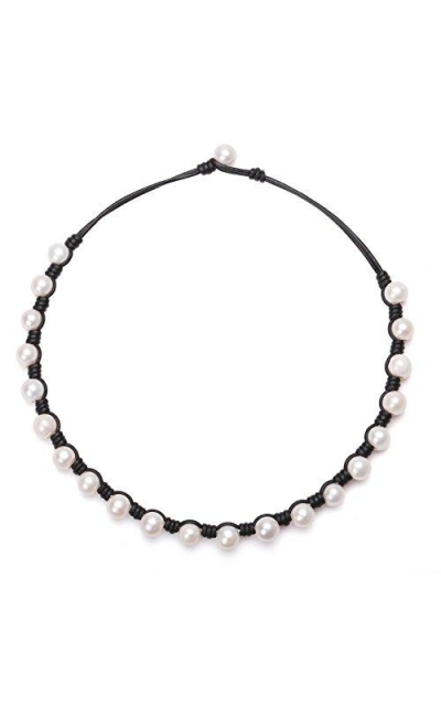 PearlyPearls Freshwater Pearl Choker Necklace