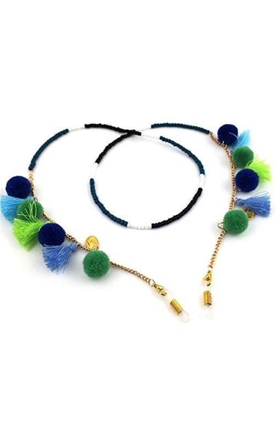 Bohemian Tassels Beaded Sunglass Chain