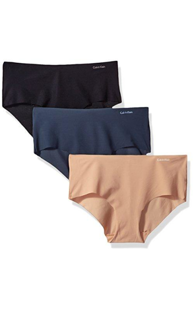 Calvin Klein 3 Pack Invisibles Hipster Panty
