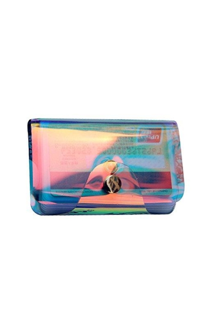 Hologram Clear Transparent Credit Card Holder