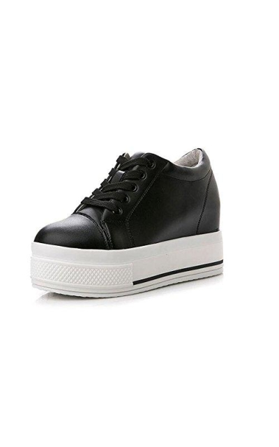 PP FASHION Platform Leather Sneakers