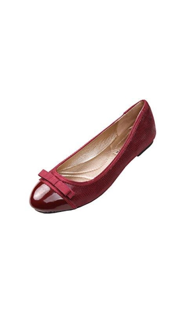 Feversole Bow Round Toe Ballet Flat