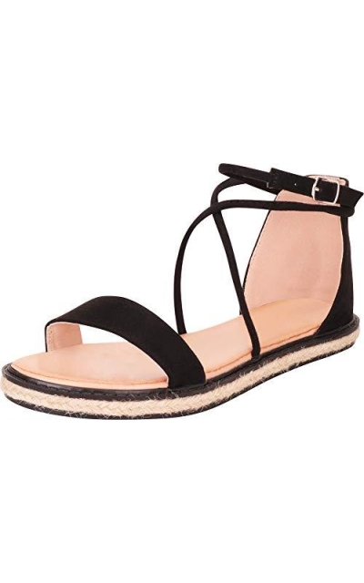 Cambridge Select Strappy Espadrille Flat Sandal