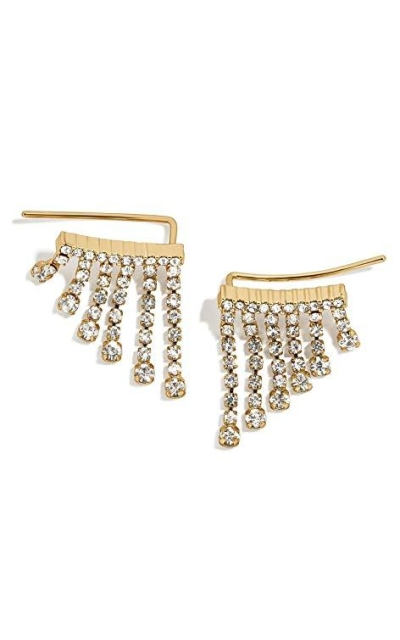 Fringe Crystals Earrings Jackets