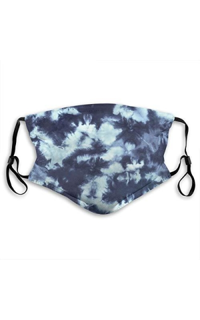 Christox Dark Blue Summer Tie Dye Face Mask