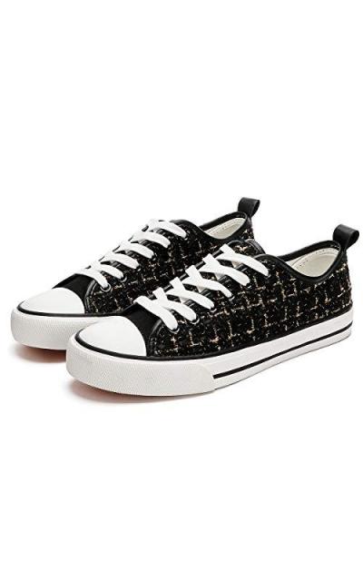 kufeiti Tweed Plaid Sneakers
