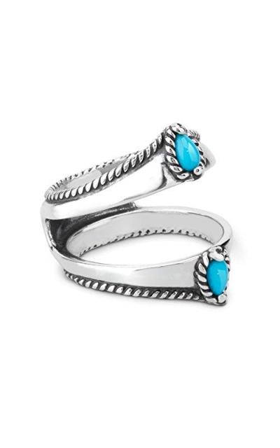 Carolyn Pollack Turquoise Gemstone Guard Ring
