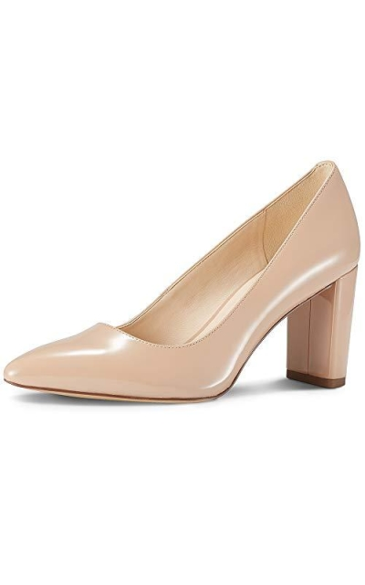 JENN ARDOR Chunky Thick Block Heel Pumps