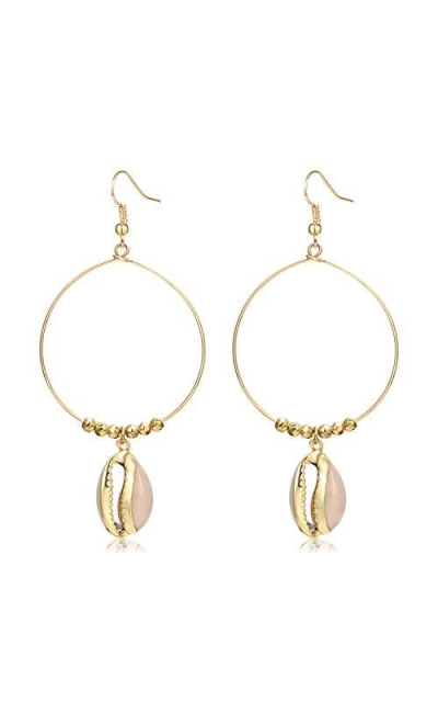 CEALXHENY Shell Hoop Earrings