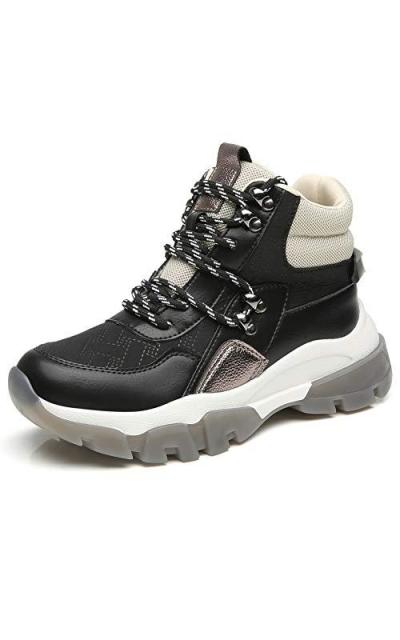 Cestfini Black Chunky High-top Sneakers