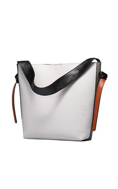 S-ZONE Contrast Color Shoulder Bag