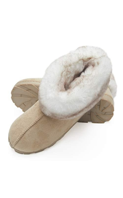 Jessica Simpson Tipped Faux Fur Microsuede Bootie Slippers